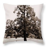Single Tree Journey Throw Pillow