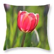 Single Tulip Throw Pillow