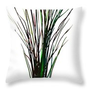 Single Winter Tree Painting Isolated Throw Pillow