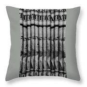 Singles In Black And White Throw Pillow