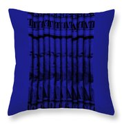 Singles In Blue Throw Pillow