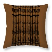 Singles In Copper Throw Pillow