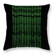 Singles In Dark Green Throw Pillow