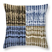 Singles In Gold And Blue Throw Pillow