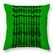 Singles In Green Throw Pillow