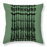 Singles In Light Green Throw Pillow