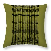 Singles In Light Yellow Throw Pillow