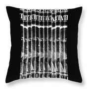 Singles In Negative Black Throw Pillow