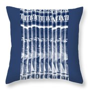 Singles In Negative Blue Throw Pillow