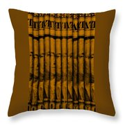 Singles In Orange Throw Pillow