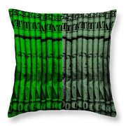 Singles In Quad Colors Throw Pillow