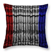 Singles In Red White And Blue Throw Pillow