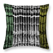 Singles In Tri Colors Throw Pillow