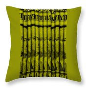 Singles In Yellow Throw Pillow
