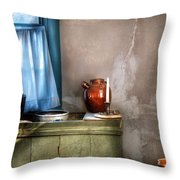Sink - The Jug And The Window Throw Pillow by Mike Savad