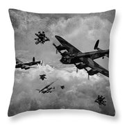 Sinking The Tirpitz Throw Pillow