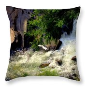 Sinks Waterfall Throw Pillow by Karen Wiles