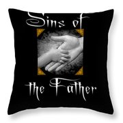 Sins Of The Father Book Cover Throw Pillow