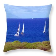 Sint Maarten Regatta Throw Pillow