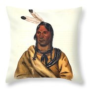Sioux Chief 1883 Throw Pillow