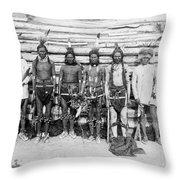 Sioux War Party Throw Pillow