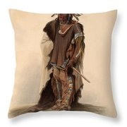 Sioux Warrior Throw Pillow
