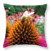 Sip Of Nectar Throw Pillow