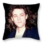 Sir Bob Geldorf 1989 Throw Pillow