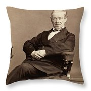 Sir Charles Wheatstone (1802-1875) Throw Pillow