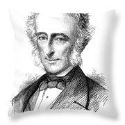 Sir Charles Wood (1800-1885) Throw Pillow