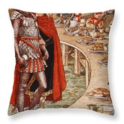 Sir Galahad Is Brought To The Court Of King Arthur Throw Pillow
