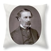 Sir Henry Thompson (1820-1904). English Surgeon. Photographed C.1882 Throw Pillow