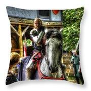 Sir Lancelot Du Lac Throw Pillow