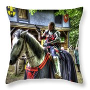Sir Lancelot Du Lac - V2 Throw Pillow
