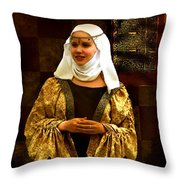 Maid Marian - Sire I Kan Not Quod She Throw Pillow