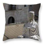 Siren Sphinx In The Medina Del Campo Throw Pillow