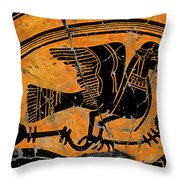 Siren With Lotus Buds - Detail No. 1 Throw Pillow