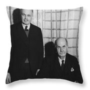 Sirs William And Lawrence Bragg Throw Pillow