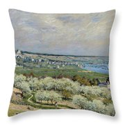 Sisley Saint-germain, 1875 Throw Pillow