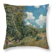 Sisley The Road, 1875 Throw Pillow