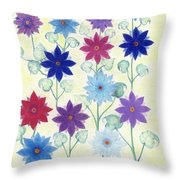Sister Bloom Throw Pillow