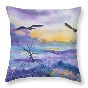 Sister Ravens Throw Pillow