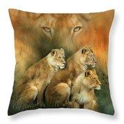 Sisterhood Of The Lions Throw Pillow