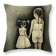 Sisters... Throw Pillow