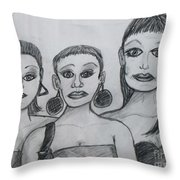 Sisters And Brother Throw Pillow