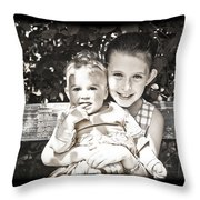 Sisters In Sepia Throw Pillow