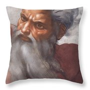Sistine Chapel Ceiling Creation Of The Sun And Moon Throw Pillow by Michelangelo Buonarroti