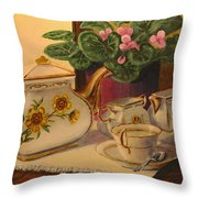 Sit A Minute Throw Pillow