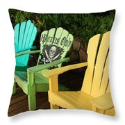 Sit At Your Own Risk Throw Pillow
