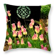 Sit Beside Us Throw Pillow